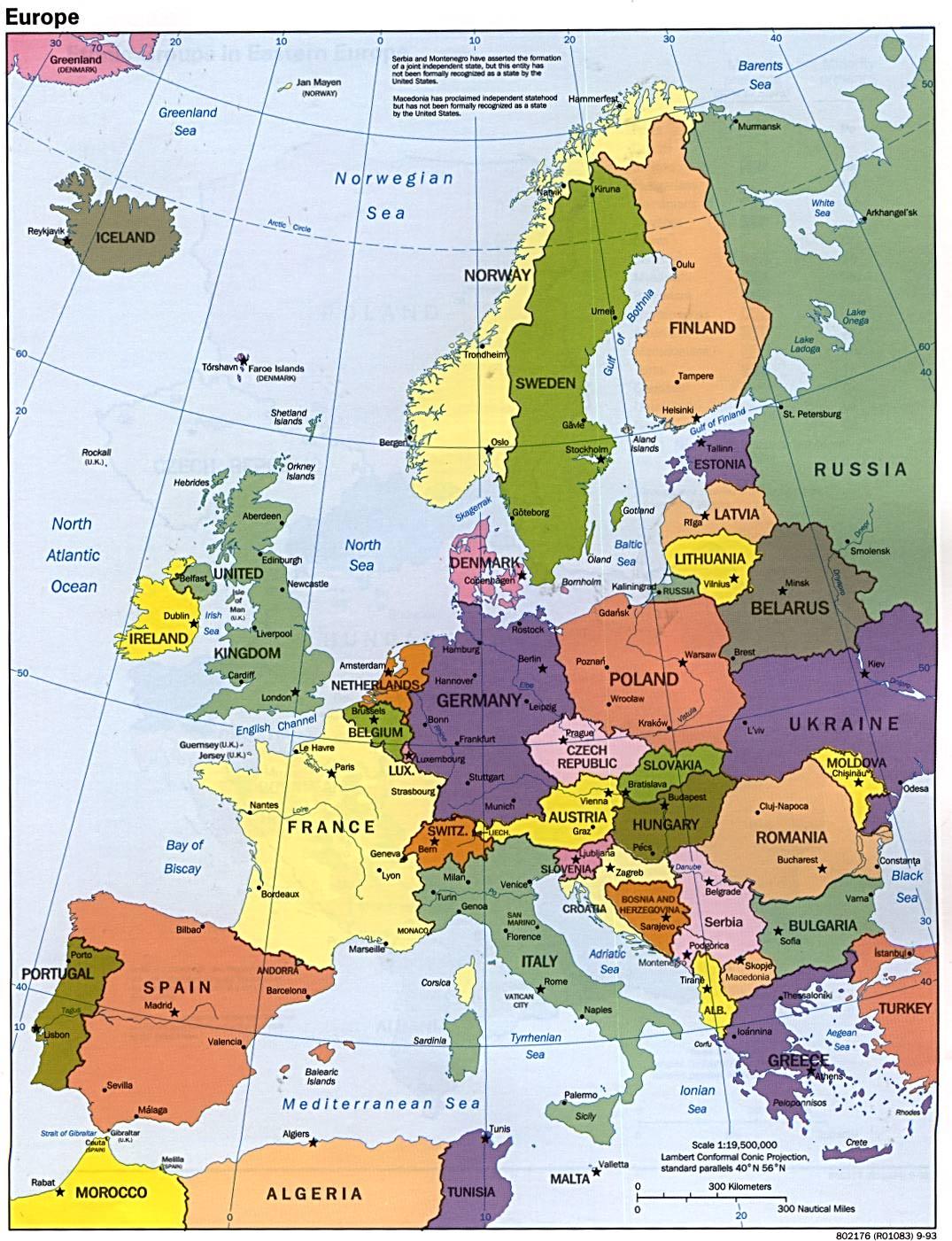 картинки европы карта