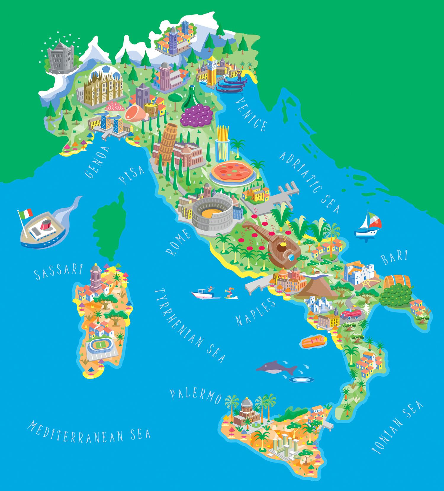 Карты италии