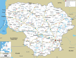 Карты Литвы | Подробная карта Литвы на русском языке ...: http://www.maps-of-europe.com/maps-of-lithuania/