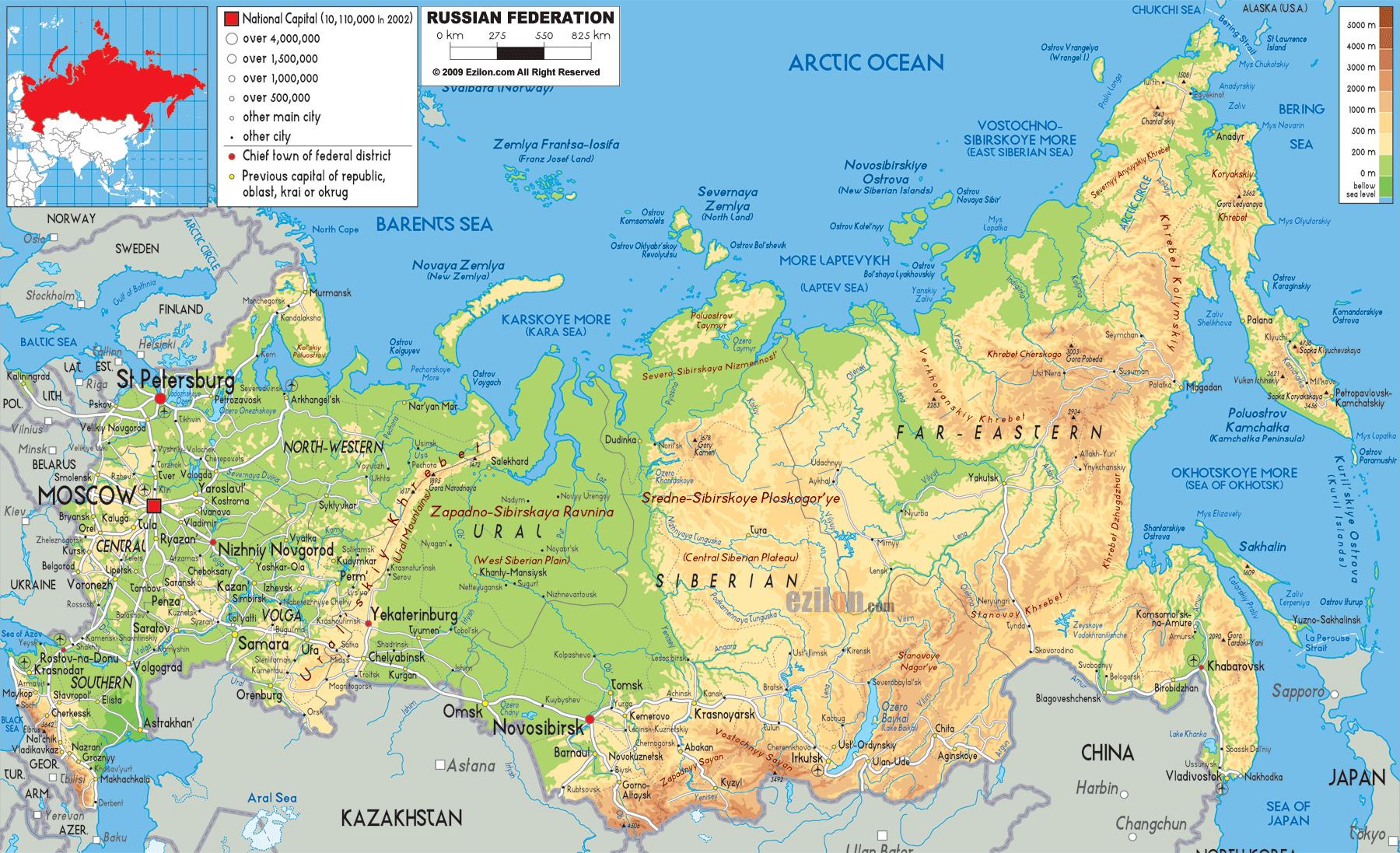 Karty Rossii Podrobnaya Karta Rossii S Gorodami I Oblastyami Karta