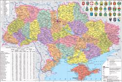 Подробная политическая и административная карта Украины.