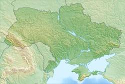 Детальная карта рельефа Украины.