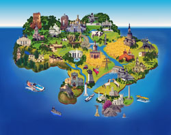 Детальная туристическая карта (картинка) Украины.