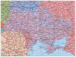 Карта автомобильных дорог Украины.